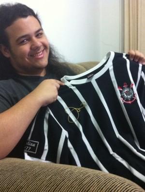 Igor Miranda, torcedor do Corinthians Uberlândia (Foto: Caio Nunes)