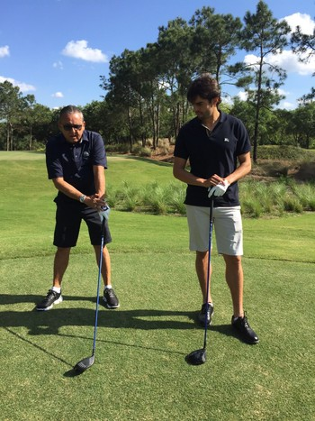 Galvão Bueno e Kaká jogam golfe nos Estados Unidos (Foto: Sidney Garambone)