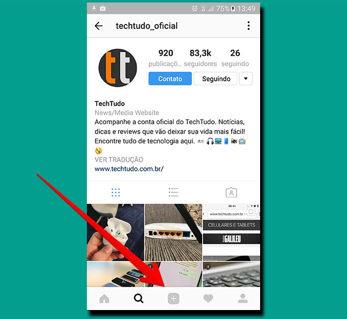 Use o aplicativo do Instagram para acessar e editar seus rascunhos (Foto: Reprodução/Filipe Garrett)