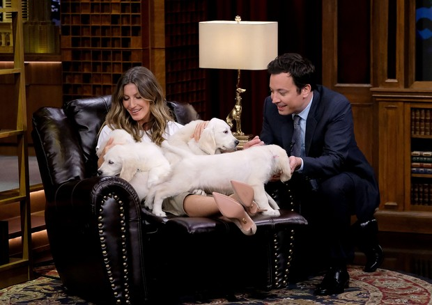 Gisele Bündchen e Jimmy Fallon (Foto: Getty Images)