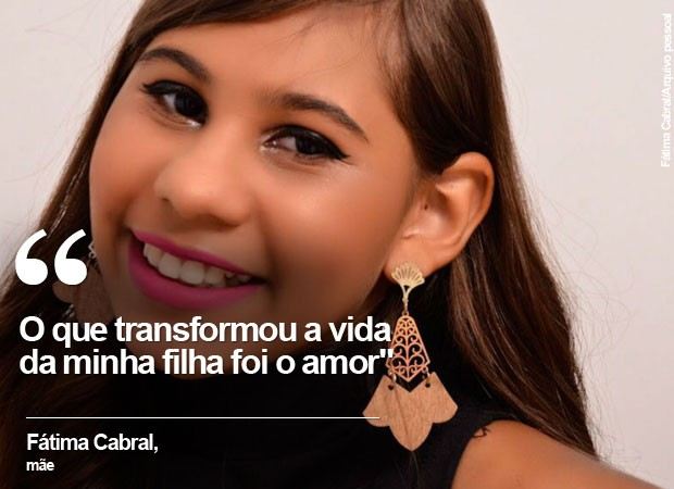 Mãe de garota com microcefalia fala sobre superação da filha (Foto: Fátima Cabral/G1)
