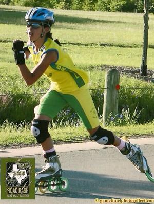 Gabriela Neres, revelação do biatlo de inverno começou na patinação (Foto: Arquivo pessoal)