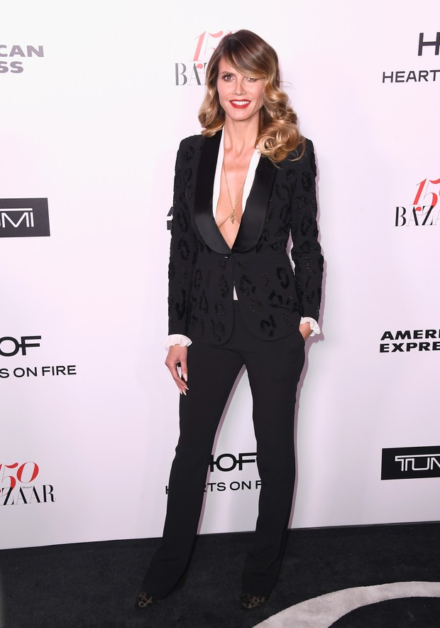 Heidi Klum em evento em Los Angeles, nos Estados Unidos (Foto: Frazer Harrison/ Getty Images/ AFP)