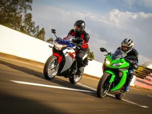 Honda CBR 250R e Kawasaki Ninja 300 (Foto: Rafael Munhoz/G1)
