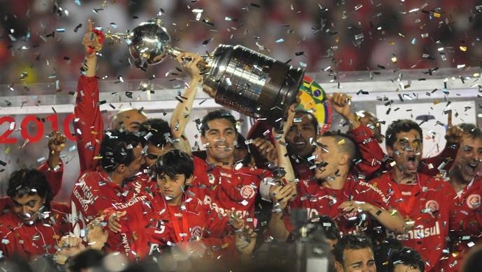 Inter é campeão da Libertadores de 2010 (Foto: Alexandre Lops / Inter, DVG)