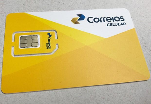 Chip do Correios Celular (Foto: Divulgação)