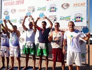 David Soares conquista o 2º lugar no Campeonato Capixaba de Futevôlei (Foto: Divulgação/Sejesp)