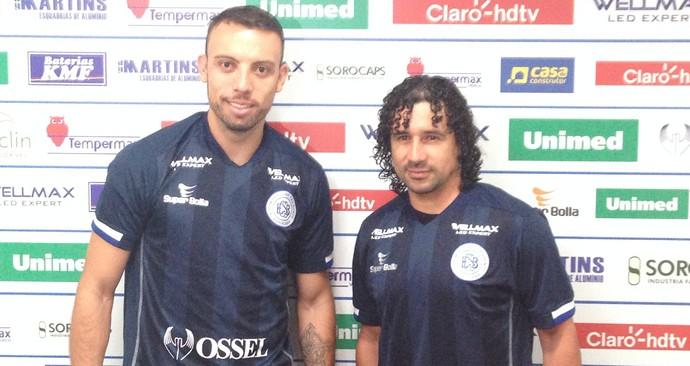 Paulo Sérgio, Clébson, São Bento (Foto: Theillyson de Rocco)