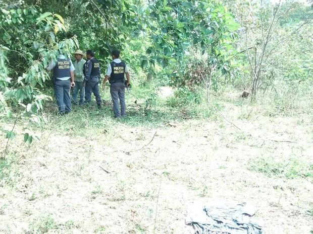 Assaltantes foram baleados em área de mata e morreram (Foto: Assessoria/ Polícia Civil-MT)