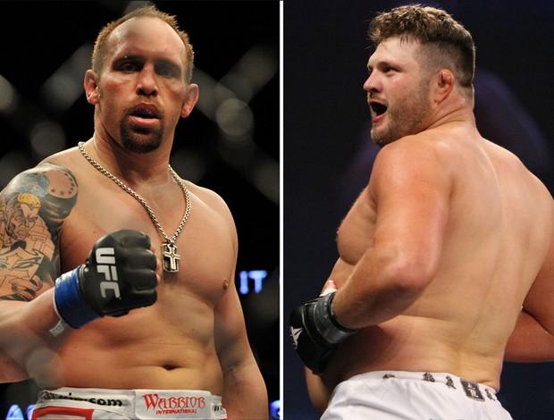 Montagem Shane Carwin e Roy Nelson - UFC (Foto: editoria de arte / globoesporte.com)