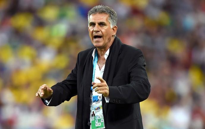 Carlos Queiroz na partida do Irã x Nigéria (Foto: Getty Images)