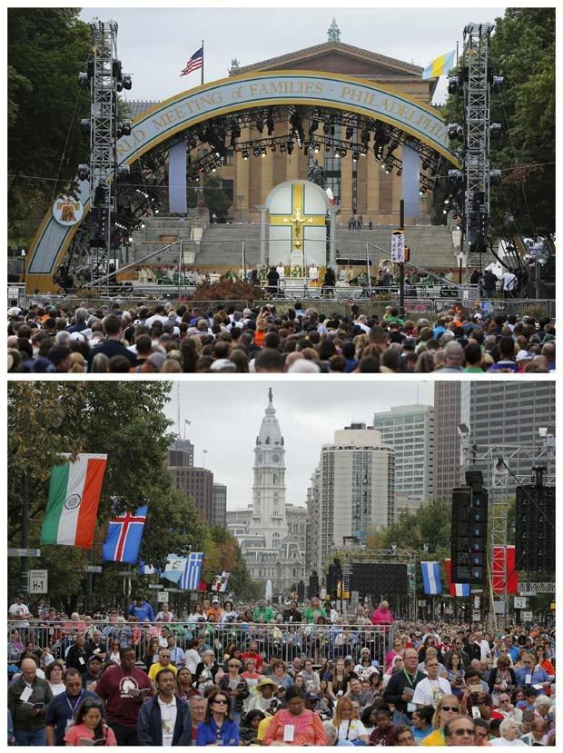 Papa Francisco celebra última missa de sua visita aos EUA neste domingo (27) para milhares de pessoas (Foto: REUTERS/Brian Snyder)