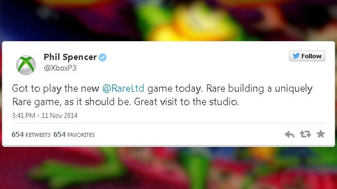 No ano passado, Phil Spencer comentou que a Rare está produzindo um jogo único (Foto: Reprodução/Eurogamer)