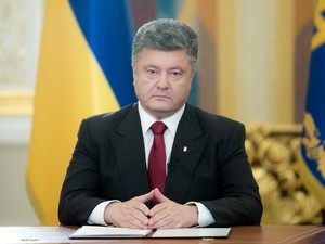 Petro Poroshenko, em discurso aos ucranianos. (Foto: Mykhaylo Markiv / AFP Photo)