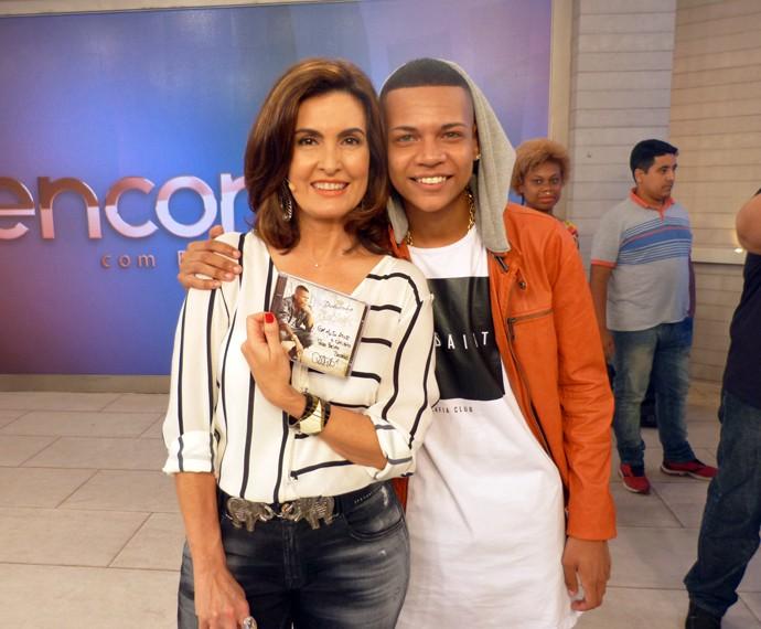 Fátima e MC Duduzinho (Foto: Viviane Figueiredo Neto/Gshow)