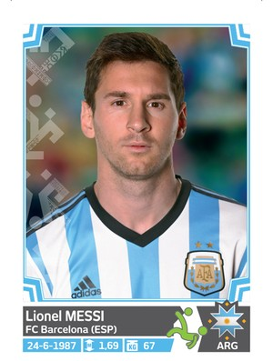 Álbum da Copa América - Messi Argentina
