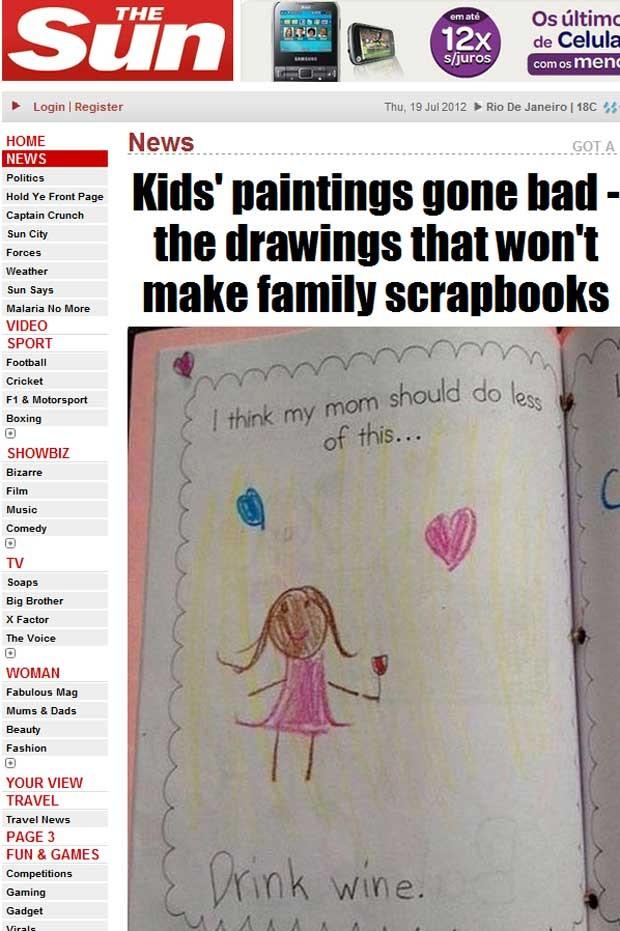 Jornal britânico publica galeria de imagens de desenhos engraçados feitos por crianças (Foto: Reprodução)