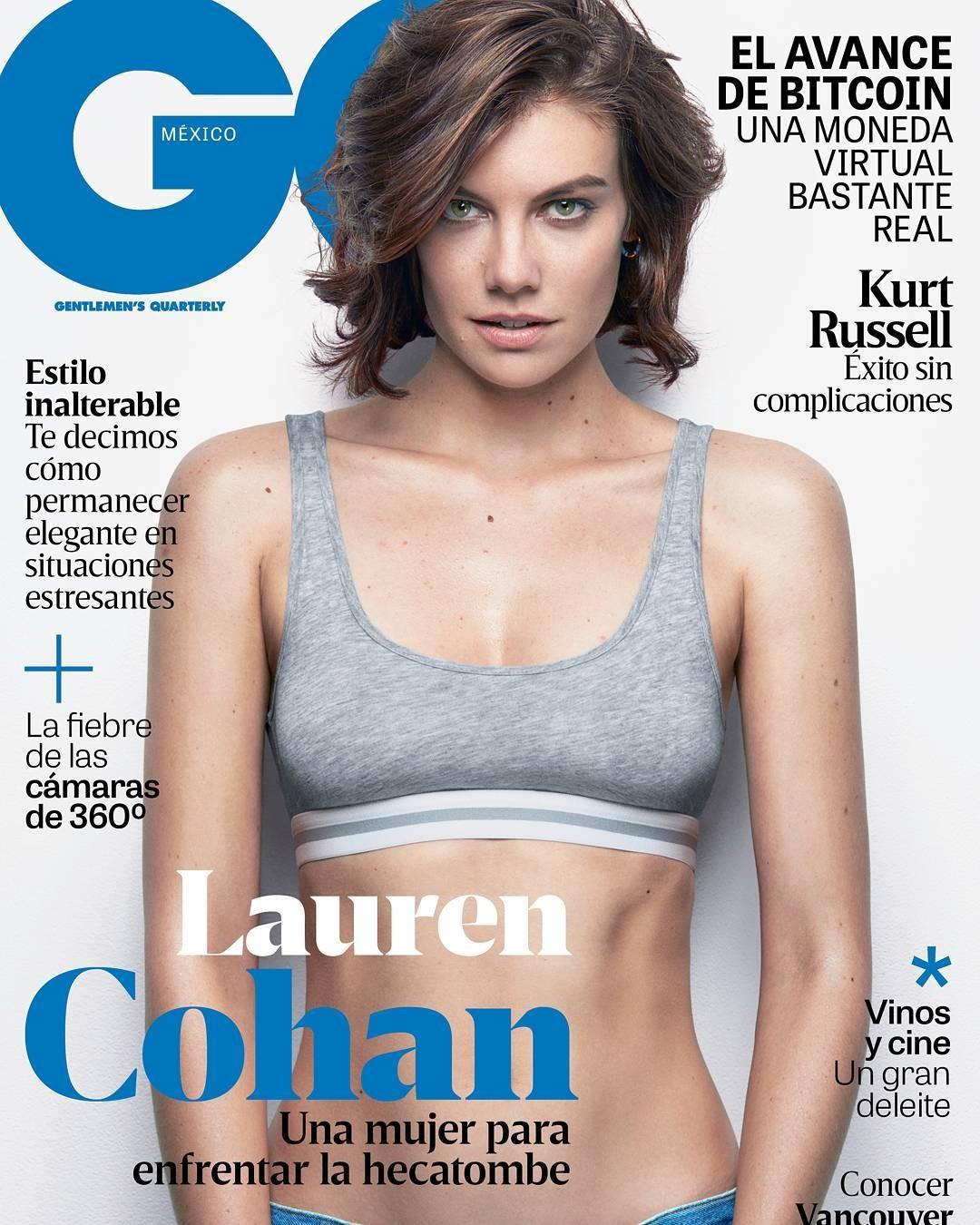 Lauren Cohan na capa da GQ México (Foto: Reprodução/Instagram)