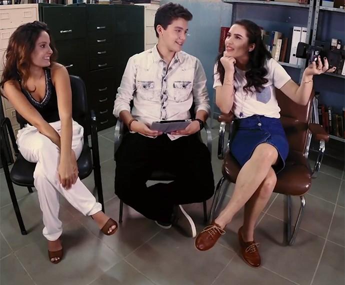 #PapoRetoDomFernão com Amanda, Gabriel e Lívian (Foto: Gshow)