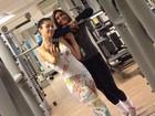Thalita Lippi pega firme na academia para manter o peso em dia