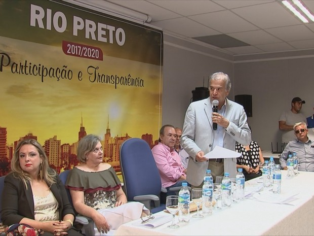 Edinho concluiu nomeações de secretários em Rio Preto (Foto: Reprodução/ TV TEM)