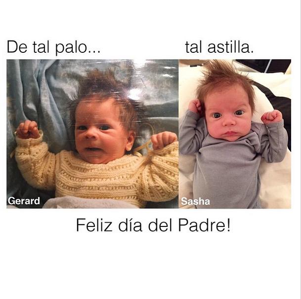 Gerard Piqué e Sasha (Foto: Reprodução/Instagram)