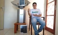 Aluno inventa máquina que trata água com luz solar e energia (Carol Malandrino/G1)
