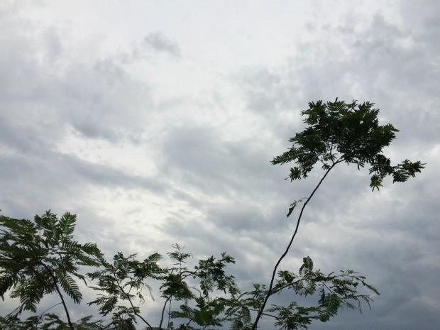 Tempo nublado na tarde de quarta-feira em Campo Grande (Foto: Isabela Cavalcante/G1 MS)
