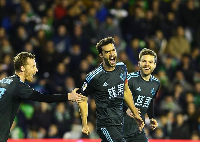 Xabi Prieto, Betis x Real Sociedad (Foto: CRISTINA QUICLER / AFP)