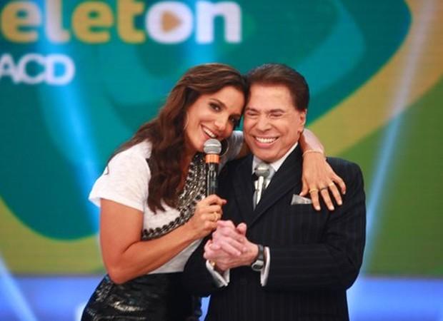 Ivete Sangalo e Silvio Santos (Foto: Divulgação/SBT)