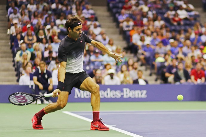 Roger Federer avança para as quartas de final do US Open (Foto: Abbie Parr / GETTY IMAGES NORTH AMERICA / AFP)