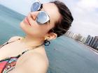 Naiara Azevedo curte praia no Ceará uma semana após seu casamento