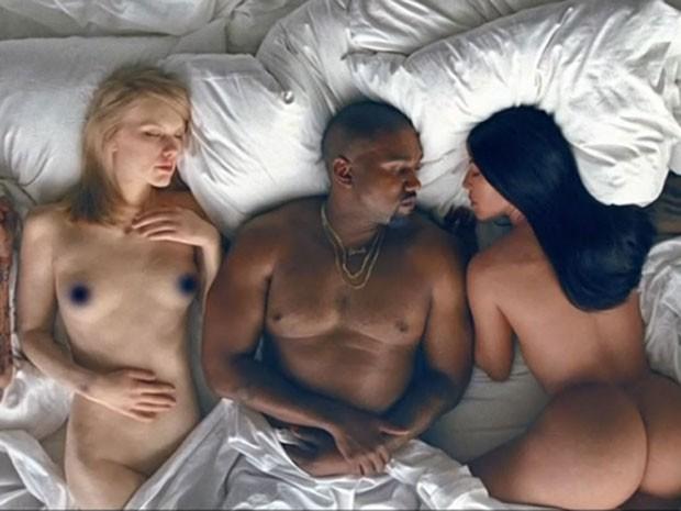 Taylor Swift, Kanye West e Kim kardashian são retratados em clipe (Foto: Reprodução)