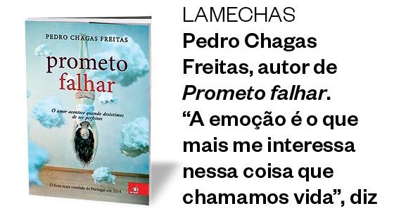 """Lamechas Pedro Chagas Freitas, autor de Prometo falhar.  """"A emoção  é o que mais  me interessa  nessa coisa  que chamamos  vida"""", diz (Foto: Divulgação)"""