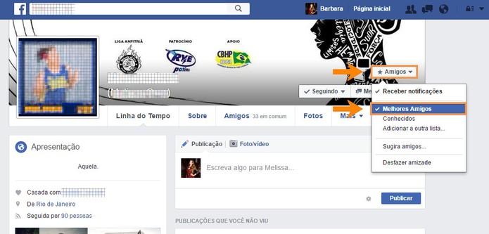 Adicione seu contato como melhor amigo pelo perfil dele no Facebook (Foto: Reprodução/Barbara Mannara) (Foto: Adicione seu contato como melhor amigo pelo perfil dele no Facebook (Foto: Reprodução/Barbara Mannara))