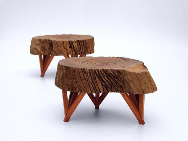Paulo Alves e Hugo França lançam coleção com 60 móveis de madeira (Foto: Victor Afaro)