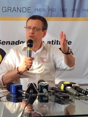 Candidato concedeu entrevista em Porto Alegre (Foto: Caetanno Freitas/G1)
