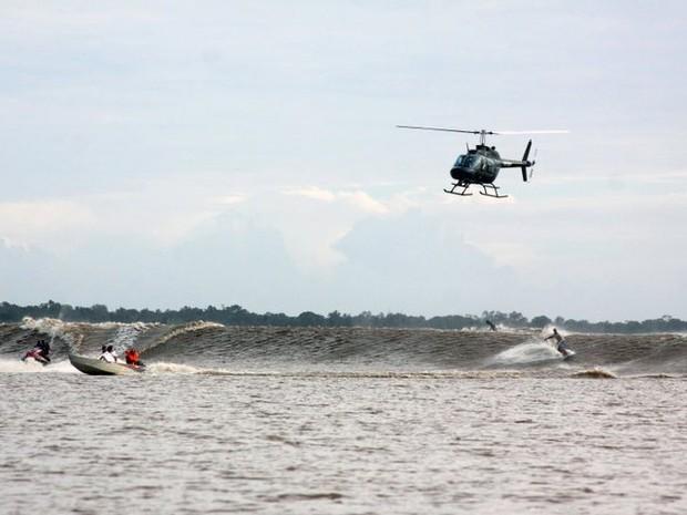 Pororoca no rio Araguari deixou de existir (Foto: Stanley Gomes/Arquivo Pessoal)