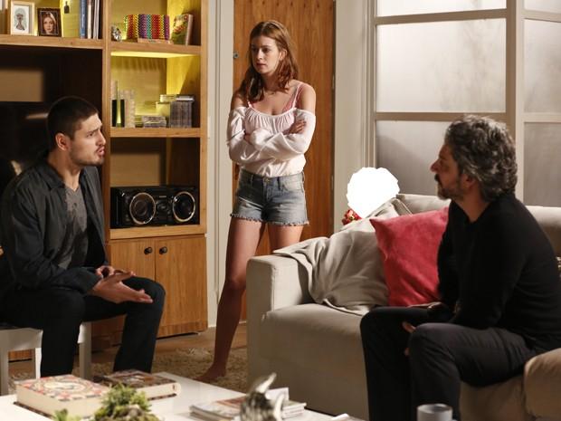 João Lucas mente e diz que queria dar um flagra no pai  (Foto: Inácio Moraes/TV Globo)