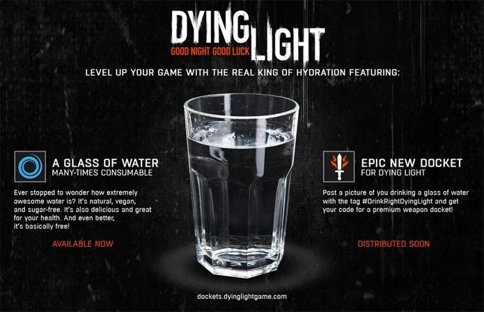 Dying Light iniciou campanha com DLC grátis para quem beber água (Foto: Divulgação)