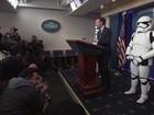 Stormtroopers participam de coletiva de imprensa na Casa Branca