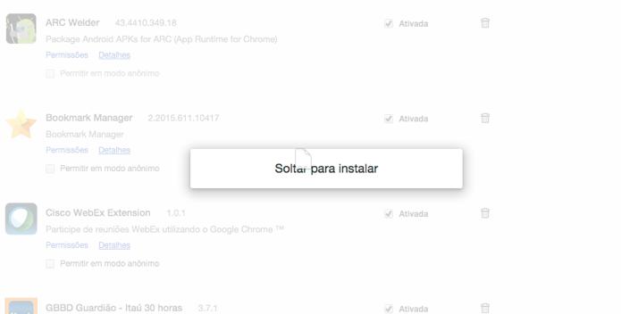Solte a extensão no Chrome (Foto: Reprodução/Paulo Alves)