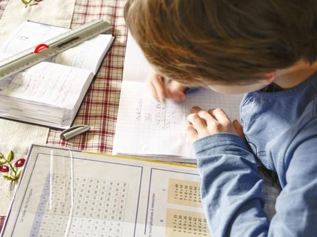 Criança estudando matemática (Foto: AJ Photo/BSIP)