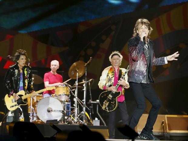 Rolling Stones abrem sua turnê pela América Latina com show em Santiago, no Chile, na noite de quarta-feira (3) (Foto: REUTERS/Rodrigo Garrido)