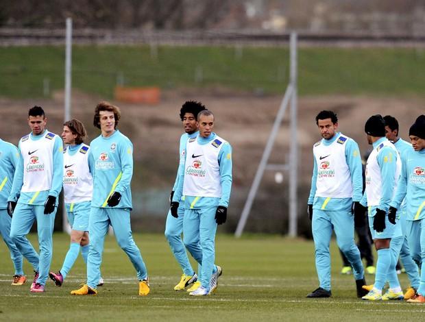 jogadores brasil treino (Foto: Agência AFP)