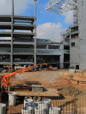 Obras paralisadas Arena Palestra Palmeiras (Foto: Alexandre Sinato)