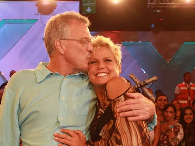 Xuxa e Pedro Bial (Foto: Clayton Militão / FotoRionews)