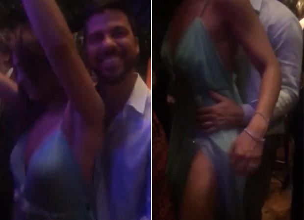 Carlos Eduardo Baptista e Juliana Paes sensualizaram na pista e foram flagrados pela promoter Carol Sampaio (Foto: Reprodução/Instagram)