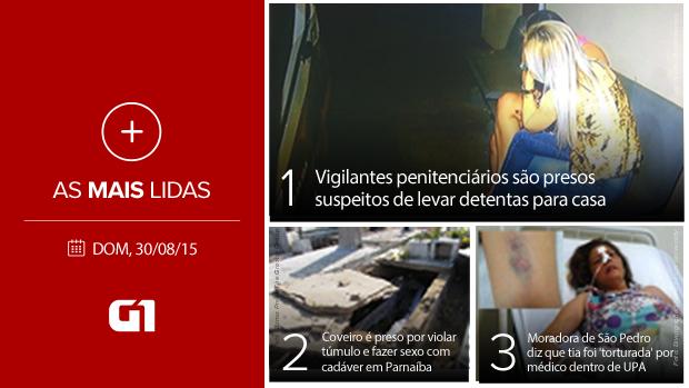 Cartela Mais lidas Facebook 30/8/2015 (Foto: g1)