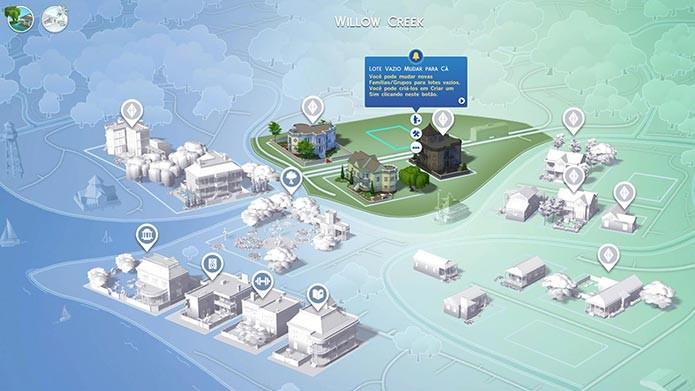 As vizinhanças também são diferentes em The Sims 4 (Foto: Reprodução/Tais Carvalho)